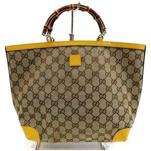 Auth Gucci Tote Bag Brown Canvas #N9187C30O